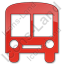 Bus Station Plain Red Icon, PNG/ICO, 64x64