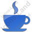 Cafe Plain Blue Icon