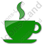 Cafe Plain Green Icon, PNG/ICO, 64x64