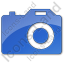Camera Plain Blue Icon