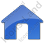 Camping Hut Plain Blue Icon