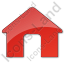 Camping Hut Plain Red Icon
