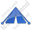 Camping Tent Plain Blue Icon