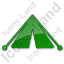 Camping Tent Plain Green Icon