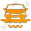Car Ferry Plain Orange Icon, PNG/ICO, 64x64