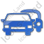 Car Rental Service Plain Blue Icon