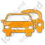 Car Rental Service Plain Orange Icon, PNG/ICO, 64x64
