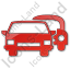 Car Rental Service Plain Red Icon, PNG/ICO, 64x64