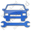 Car Repair Plain Blue Icon, PNG/ICO, 64x64
