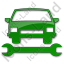 Car Repair Plain Green Icon