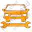 Car Repair Plain Orange Icon