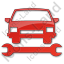 Car Repair Plain Red Icon, PNG/ICO, 64x64