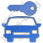 Car Safety Plain Blue Icon
