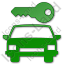 Car Safety Plain Green Icon, PNG/ICO, 64x64