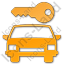 Car Safety Plain Orange Icon