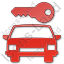 Car Safety Plain Red Icon, PNG/ICO, 64x64