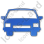 Car Plain Blue Icon