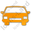 Car Plain Orange Icon, PNG/ICO, 64x64