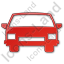 Car Plain Red Icon, PNG/ICO, 64x64