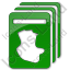 Cards Plain Green Icon, PNG/ICO, 64x64