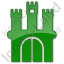Castle Plain Green Icon