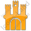 Castle Plain Orange Icon