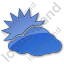 Cloudy Partly Plain Blue Icon