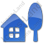 Cottage Plain Blue Icon, PNG/ICO, 64x64