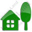 Cottage Plain Green Icon