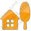 Cottage Plain Orange Icon