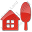Cottage Plain Red Icon