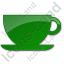 Cup Plain Green Icon