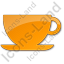 Cup Plain Orange Icon