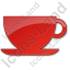 Cup Plain Red Icon