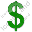 Currency Dollar Plain Green Icon