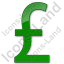 Currency Pound Plain Green Icon