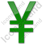 Currency Yen Plain Green Icon
