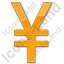 Currency Yen Plain Orange Icon