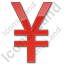 Currency Yen Plain Red Icon