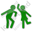 Dancing Plain Green Icon