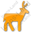 Deer Plain Orange Icon