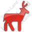 Deer Plain Red Icon