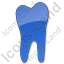 Dentist Tooth Plain Blue Icon