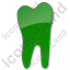 Dentist Tooth Plain Green Icon