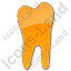 Dentist Tooth Plain Orange Icon