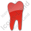 Dentist Tooth Plain Red Icon