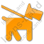 Dog Plain Orange Icon