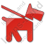 Dog Plain Red Icon