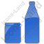 Drinks Jar Bottle Plain Blue Icon