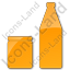 Drinks Jar Bottle Plain Orange Icon